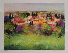 Luciano PASQUINI   litografia colori  PRIMAVERA   50x40 firmata numerata