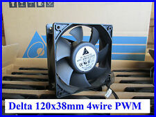Delta AFB1212SHE-PWM,120mm x 38mm 4pinPWM (3Pin Compatible),151CFM Server/Case