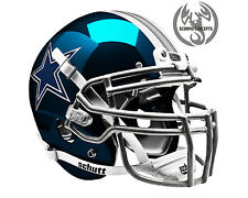 Dallas Cowboys Chrome Navy Concept Mini Helmet