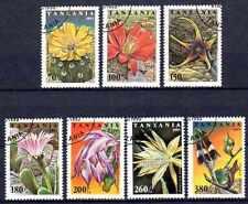 Flore - Fleurs Tanzanie (87) série complète de 7 timbres oblitérés