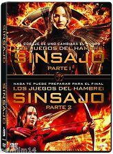 PACK LOS JUEGOS DEL HAMBRE SINSAJO 1 + 2 DVD NUEVO ( SIN ABRIR ) COLECCION 2