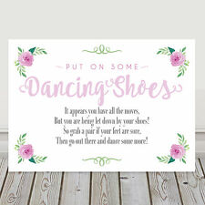 Pink Dancing Shoes Wedding Flip Flop Sign Tired and Sore Feet Poem 3FOR2 (P10)