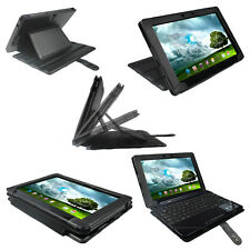 Black PU Leather Case for Asus Eee Pad Transformer TF300 TF300T 10.1 Cover