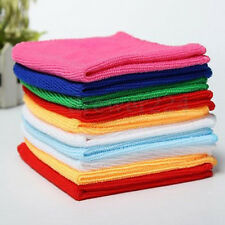 10pcs Square Microfiber Soft Soothing Cotton Face Cleaning Washcloths Hand Towel