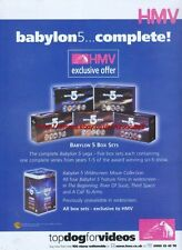 "Babylon 5 ""Complete HMV"" 1999 Magazine Advert #4498"
