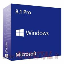 WINDOWS 8.1 PROFESSIONAL ESD PRO 32 64 BIT SISTEMA OPERATIVO NOTEBOOK ORIGINALE