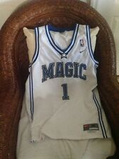 Nike Orlando Magic Tracy Mcgrady #1 white Basketball Jersey Size M Lenght +2 Men