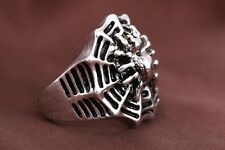 Hot sell 316l stainless steel Fashion Punk design Spider web ring US size10 T44
