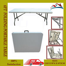 6ft HEAVY DUTY FOLDING CATERING MARKET CAMPING BANQUETING TRESTLE 1.8M TABLE.