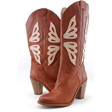 Jessica Simpson Caralee Women US 8 Brown Western Boot Blemish  13073