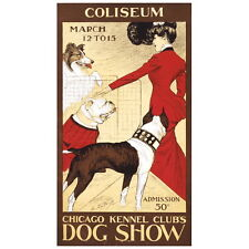 Chicago Kennel Club's Dog Show Ad Poster Deco Magnet, Fridge Mini Gift