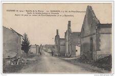 51 Guerre 1914 NORMEE A 4 kms de FERE CHAMPENOISE apres le bombardement et l'inc