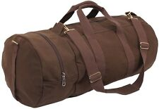"""EARTH BROWN 23"""" Double Ender Recreational Sports Luggage Gym Duffle Bag  2377"""