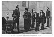 Russia Emperor Receiving Bulgarian Deputation at Fredensborg -Antique Print 1885