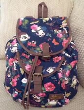 NWT DISNEY LOUNGEFLY BACKPACK BAMBI THUMPER FLORAL BUTTERFLY SCHOOL BAG PURSE