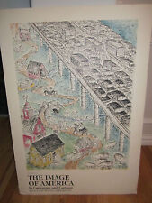 "1972 THE IMAGE OF AMERICA - IN CHARACTER & CARTOON POSTER ON POSTERBOARD 24""x34"""