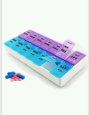 7 Day Pill Box Medicine Tablet Dispenser Organiser Weekly Storage Case for AM PM