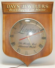 Vintage Day's Jewelers Longines Dealer Wall Clock Advertising Piece