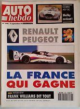 Auto Hebdo 9/09/1992; Shelby Cobra 427 SC Replica/ Interview Franck Williams