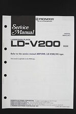 PIONEER LD-V200 HGM Original Laservision-Player Service-Manual/Diagram o122