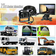 "12v-24v 7"" LCD Rear View Monitor Backup System For Truck RV Heavy Duty Caravan"