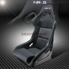 1X NRG FRP-300 UNIVERSAL FIBER GLASS BUCKET RACING SEAT+STAINLESS BRACKET MOUNT
