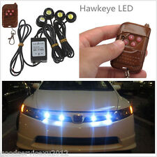 4in1 12V Hawkeye LED Car Emergency Strobe Lights DRL Wireless Remote Control NEW