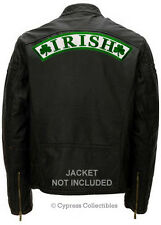 IRISH SHAMROCK BIKER PATCH green clover HUGE BACK SIZE embroidered IRELAND LARGE