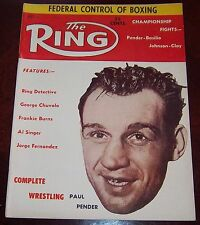 The Ring Magazine  July 1961 Paul Pender  Collectable