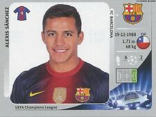 N°458 ALEXIS SANCHEZ # CHILE FC.BARCELONA STICKER PANINI CHAMPIONS LEAGUE 2013