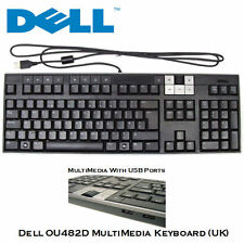 DELL KEYBOARD Enhanced Multimedia USB Keyboard with 2xUSB Ports U482D UK Layout
