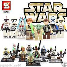 PACK 8 FIGURAS STAR WARS + ACCESORIOS  LEGO COMPATIBLE / IGUAL QUE LEGO