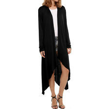 Knit Long Sleeve Open Front Duster Cardigan Lightweight Flyaway Womens Tunic NEW