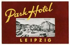 Park Hotel LEIPZIG Germany luggage label Kofferaufkleber  - TRAM   x0332