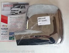 VW Transporter T5 + VW Caddy wing mirror trim - CHROME - SHINE BRAND NEW - P/S