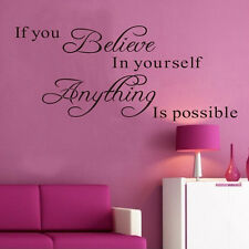 Art Vinyl Wall Decal Stickers Removable Nice Mural Decor Famous Quote Words Poem