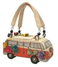 Mary Frances Handbag Get on The Bus VW Van Vintage Auto Car Beaded Jeweled Purse