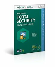 KASPERSKY totale sicurezza 2016 3 PC Device-Multi Device-NUOVO-download