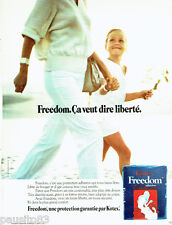 PUBLICITE ADVERTISING 036 1978  Kotex serviettes protection Freedom
