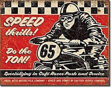 Speed Thrills! Parts & Service metal sign 400mm x 320mm   (de)