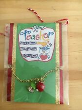 Teacher Gift Apple Bling Necklace