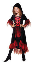 Childrens Kids Vampire Girl Fancy Dress Costume Halloween Outfit Childs S