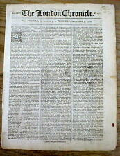 1769 Pre Revolutionary War London newspaper w/ BOSTON NON IMPORTATION AGREEMENT