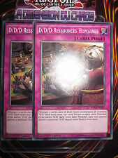 YU-GI-OH! COM LOT D/D/D RESSOURCES HUMAINES X2 (PLAYSET) DOCS-FR097 MINT FR NEUF