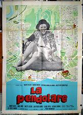 manifesto 4F originale LA PENDOLARE Marthe Keller  1973