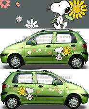 A Pair Cute Cartoon SNOOPY Car Door Mirror Vinyl Decal Sticker Motors New