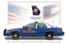 Ford Crown Victoria Georgia State Patrol  - Patrol Car Profile