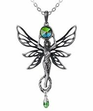 The Green Goddess Absinthe Pendant La Fee Vert Fairy Crystal P763 Alchemy Gothic