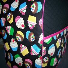 Cupcakes on Black Quilted Fabric Cover for KitchenAid Mixer NEW