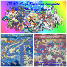 All 50 Mega Evolution Pokemon for Omega Ruby, Alpha Sapphire,  X and Y for 3DS